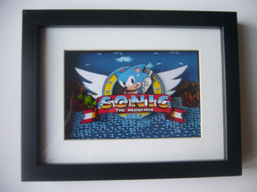 Sonic the Hedgehog Megadrive Intro  3D Diorama Shadow Box